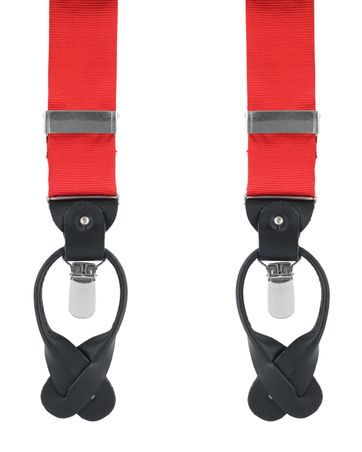 Suspenders Silk Red F34