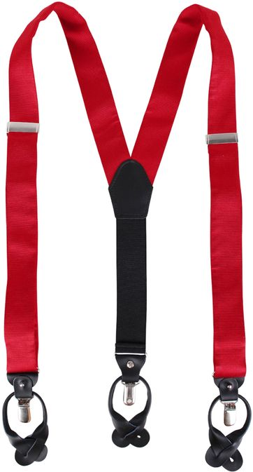 Suspenders Silk Red S17A