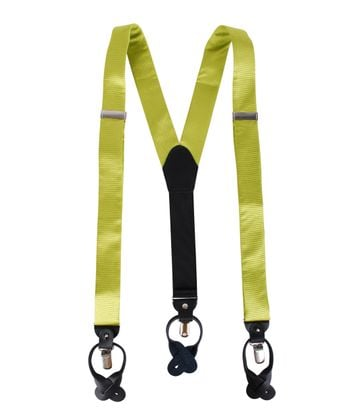 Suspenders Silm Lime Green F04
