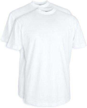 T-shirt Brede Ronde Hals 2Pack