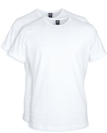T-Shirt Rund Hals 2-Pack (2 Stück) Weiß