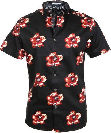 Ted Baker Hemd Bloem Zwart