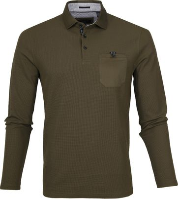 Ted Baker LS Polo Leopard Army