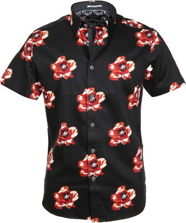 Ted Baker Shirt Flower Black