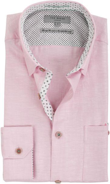 Ted Baker Shirt Leinen Rosa