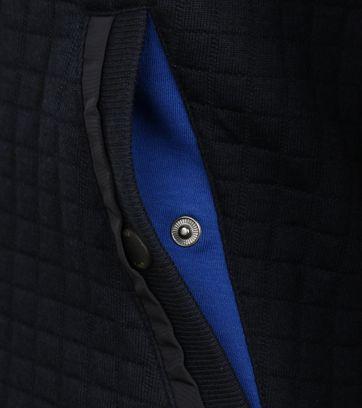Detail Ted Baker Vest Ken Donkerblauw