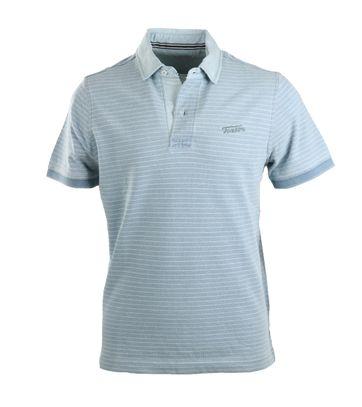 Tenson Cedric Poloshirt Hellblau Streifen