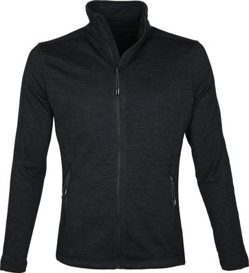 Tenson Fleece Cardigan Lino Black