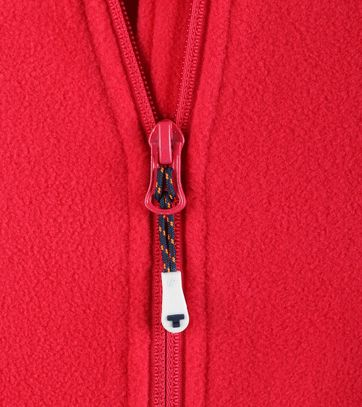 Tenson Fleece Cardigan Miller Red