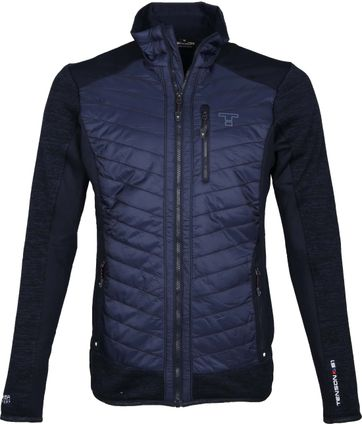 Tenson Fleece Softshell Cardigan Anson Navy