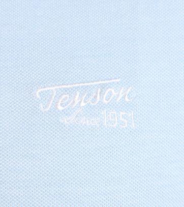 Detail Tenson Polo Licht Blauw