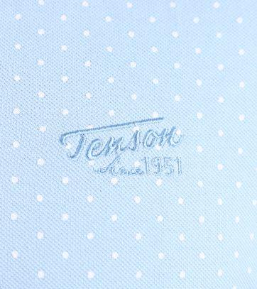 Detail Tenson Polo Licht Blauw Print