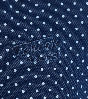 Detail Tenson Polo Navy Print