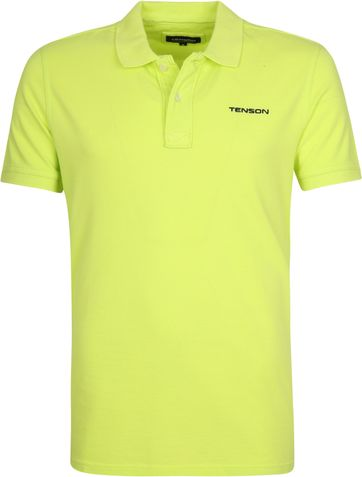 Tenson Polo Shirt Einar Neon Yellow