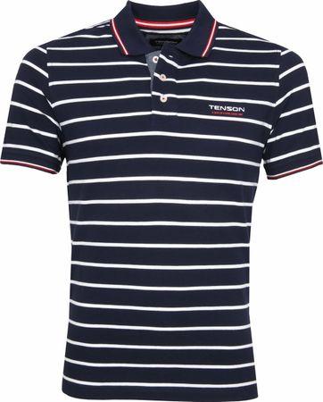 Tenson Poloshirt Gian Strepen Navy