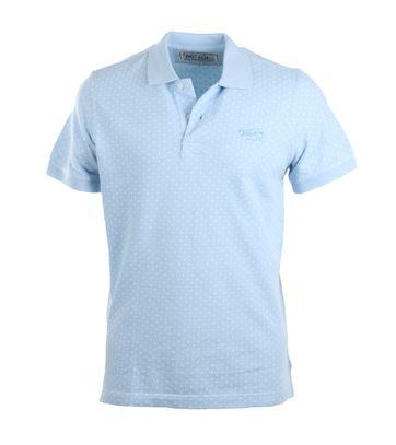 Tenson Poloshirt Hellblau Print