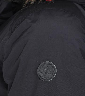 Detail Tenson Wictor Winterjas Zwart