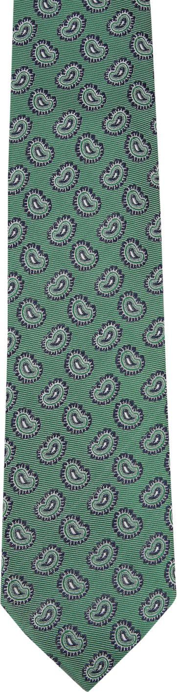Tie Silk Paisley Green