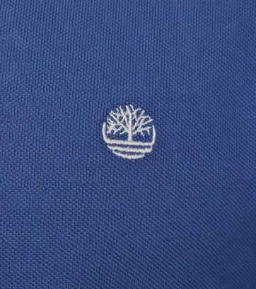 Detail Timberland Polo Uni Blauw