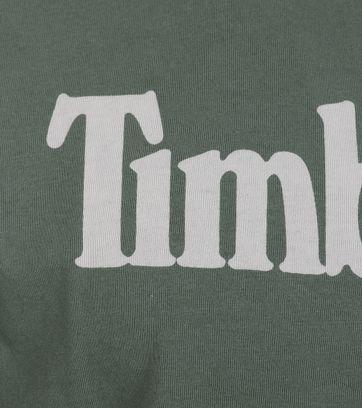 Detail Timberland Shirt Groen