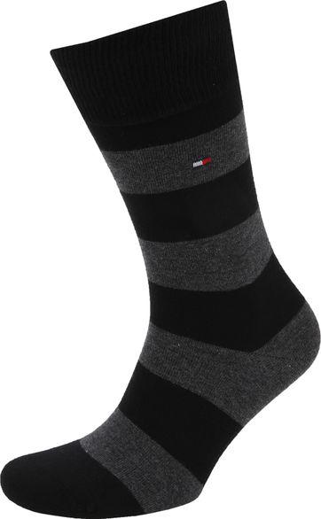 Tommy Hilfiger 2-Pack Sokken Streep Uni Zwart