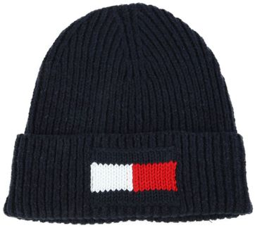 Tommy Hilfiger Beanie Big Flag Dark Blue
