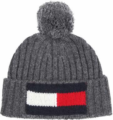 Tommy Hilfiger Beanie Dark Grey Logo