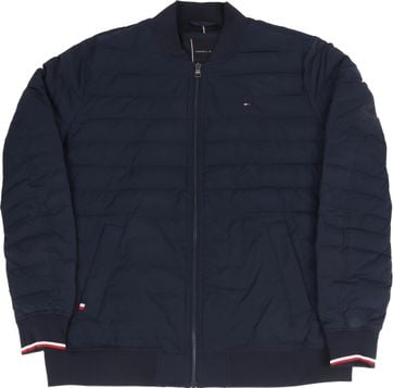 Tommy Hilfiger Big and Tall Bomber Jas Donkerblauw