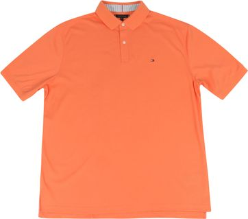 Tommy Hilfiger Big and Tall Polo Shirt Regular Orange