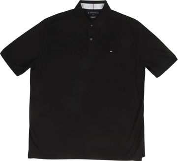Tommy Hilfiger Big and Tall Polo Shirt Regular Schwarz