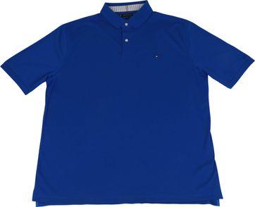 Tommy Hilfiger Big and Tall Poloshirt Regular Blauw