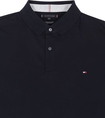 Tommy Hilfiger Big and Tall Poloshirt Regular Donkerblauw