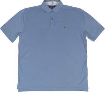 Tommy Hilfiger Big and Tall Poloshirt Regular Indigo Blauw