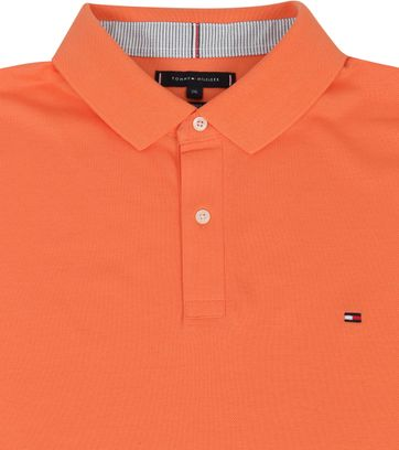Tommy Hilfiger Big and Tall Poloshirt Regular Oranje