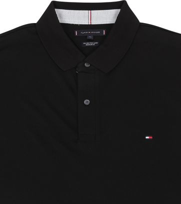 Tommy Hilfiger Big and Tall Poloshirt Regular Zwart