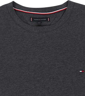 Tommy Hilfiger Big and Tall T Shirt Stretch Anthracite