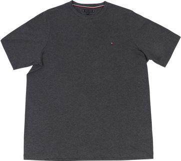 Tommy Hilfiger Big and Tall T Shirt Stretch Anthrazit