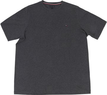 Tommy Hilfiger Big and Tall T-shirt Stretch Antraciet