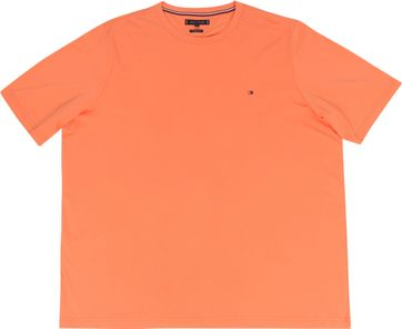 Tommy Hilfiger Big and Tall T Shirt Stretch Orange