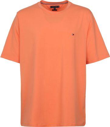 Tommy Hilfiger Big and Tall T Shirt Stretch Orange