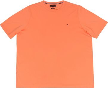 Tommy Hilfiger Big and Tall T-shirt Stretch Oranje
