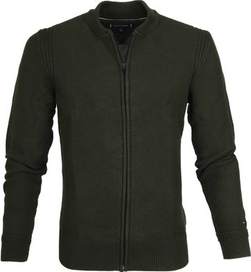 Tommy Hilfiger Cardigan Textured Green