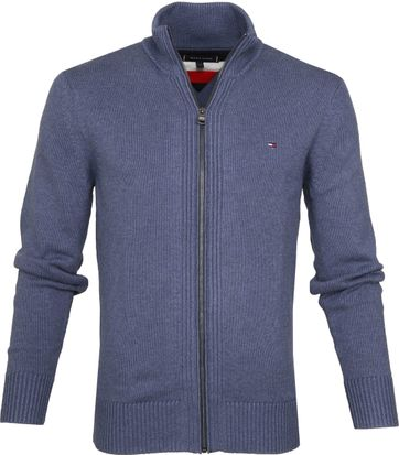 Tommy Hilfiger Chunky Cardigan Light Blue