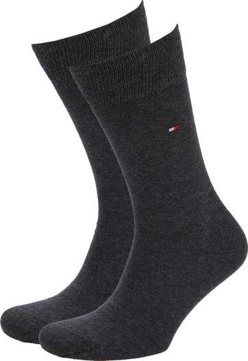 Tommy Hilfiger Classic 2-Pack Sokken Antraciet
