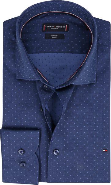 Tommy Hilfiger Dobby Overhemd Donkerblauw