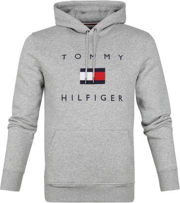 Tommy Hilfiger Flag Hoodie Grau