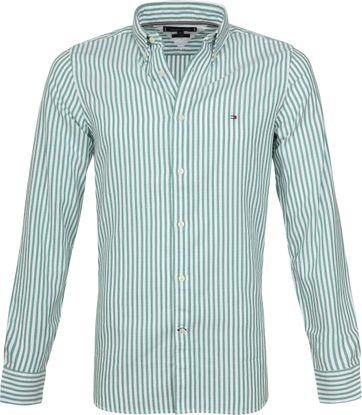 Tommy Hilfiger Groen Strepen Overhemd