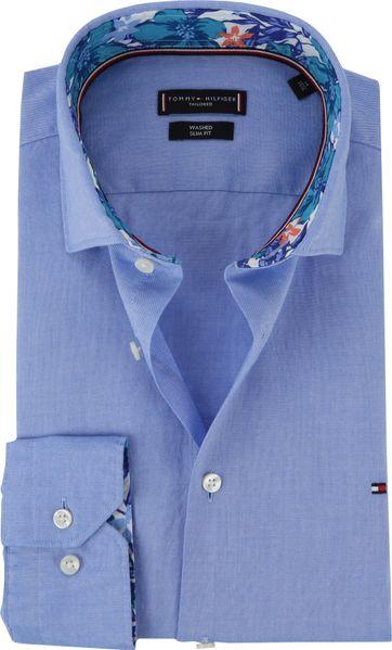 Tommy Hilfiger Hemd Blau Dobby