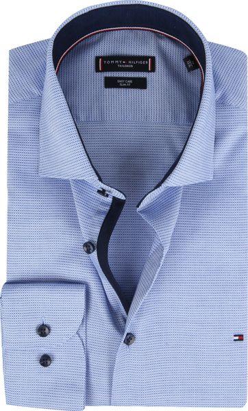 Tommy Hilfiger Hemd Blauw Dessin