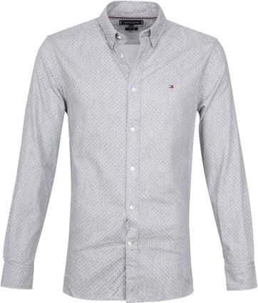 Tommy Hilfiger Hemd Flannel Dot Grau